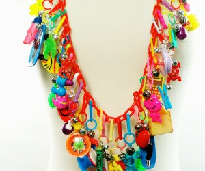 1980s charm necklace