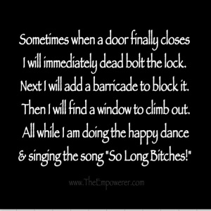 Funny saying when one door closes